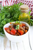 Vegetable ragout (ratatouille) paprika, eggplant Royalty Free Stock Photo