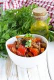 Vegetable ragout (ratatouille) paprika, eggplant Royalty Free Stock Photo