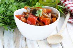 Vegetable ragout (ratatouille) paprika, eggplant Stock Photos
