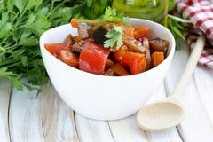Vegetable ragout (ratatouille) paprika, eggplant Stock Photos