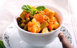 Vegetable ragout in tomato sauce Stock Photos