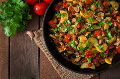 Free Vegetable Ratatouille In Frying Pan Stock Images - 56720294