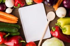 Vegetable recipe menu notes Stock Photos