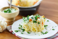 Vegetable Rice Casserole Stock Photography
