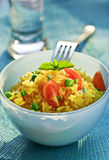 Vegetable and rice salad Royalty Free Stock Image
