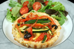 Vegetable And Ricotta Tart 3 Stock Photography