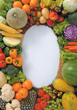 Vegetable ring. Use vegetables and fruits to form a ring stock images