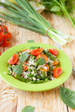 Vegetable risotto with carrots and green beans Stock Image