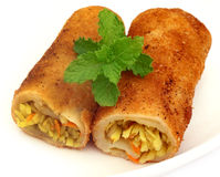Vegetable roll Royalty Free Stock Photography