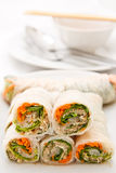 Vegetable rolls in Vietnamese style Stock Photo