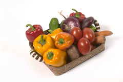 Vegetable`s basket Stock Image