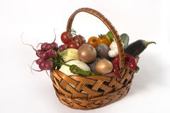 Vegetable's basket Royalty Free Stock Photo