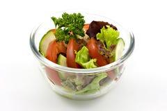Vegetable salad. On white background, isolate Stock Image