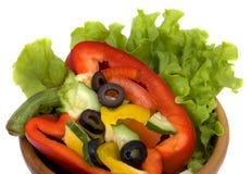 Vegetable salad. Preparation of vegetable salad ingredients Royalty Free Stock Photos