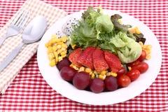 Vegetable salad. Fresh vegetable salad on Plate Stock Photo