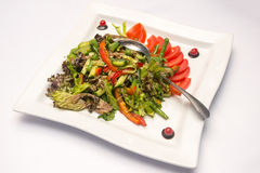 Vegetable salad with asparagus Stock Photography