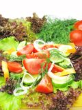 Vegetable salad assortment set Stock Photos