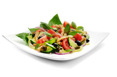 Vegetable salad with basil Royalty Free Stock Photography