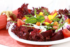 Vegetable salad with beetroot Stock Photo