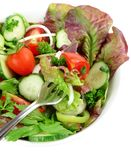 Vegetable salad in a bowl Stock Photo
