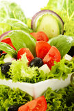 Vegetable salad bowl> Balanced diet Stock Photo