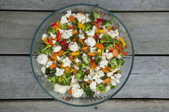 Vegetable salad in bowl Stock Photography
