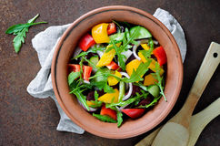 Vegetable salad in a bowl Stock Photography