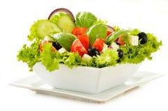 Vegetable salad bowl on white Royalty Free Stock Photo