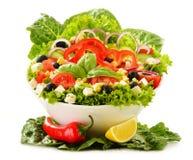 Vegetable salad bowl on white Royalty Free Stock Photos