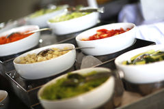 Vegetable salad bowls Stock Photo
