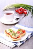 Vegetable salad and breakfast Stock Images