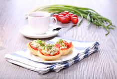 Vegetable salad and breakfast Stock Image