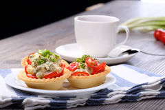 Vegetable salad and breakfast Royalty Free Stock Photos