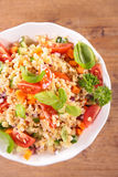 Vegetable salad with bulgur Stock Image