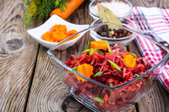 Vegetable salad with carrots, beets, cabbage and onions Stock Images