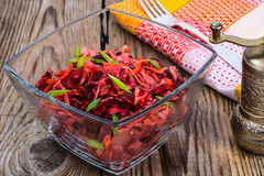 Vegetable salad with carrots, beets, cabbage and onions Stock Photography
