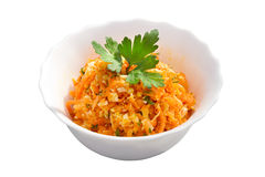 Vegetable salad with carrots Stock Photo