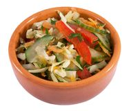 Vegetable salad in a ceramic bowl Royalty Free Stock Photography