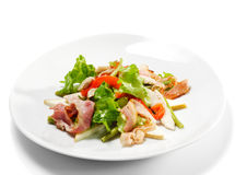 Vegetable Salad with Cheese and Bean Stock Photography