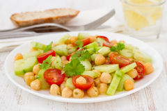 Vegetable salad with chick-pea Royalty Free Stock Image