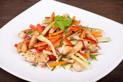 Vegetable salad with chicken Stock Images