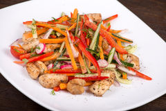 Vegetable salad with chicken Stock Photography