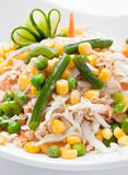 Vegetable salad chicken meat Stock Photos