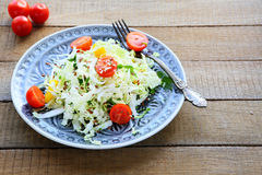 Vegetable salad with Chinese cabbage Stock Image