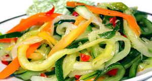 Vegetable salad close-up Royalty Free Stock Photography
