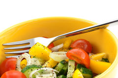 Vegetable salad closeup Royalty Free Stock Images