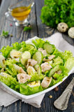 Vegetable salad with cod liver Stock Images