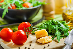 Vegetable salad cooking Royalty Free Stock Images