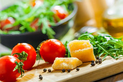 Vegetable salad cooking Royalty Free Stock Image