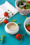 Vegetable Salad With Dressing Royalty Free Stock Image